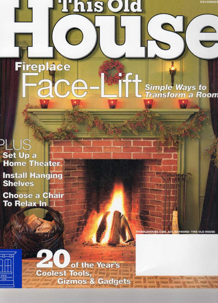 """This Old House""  2003 Cover photo and article regarding a small project  in Concord, MA"