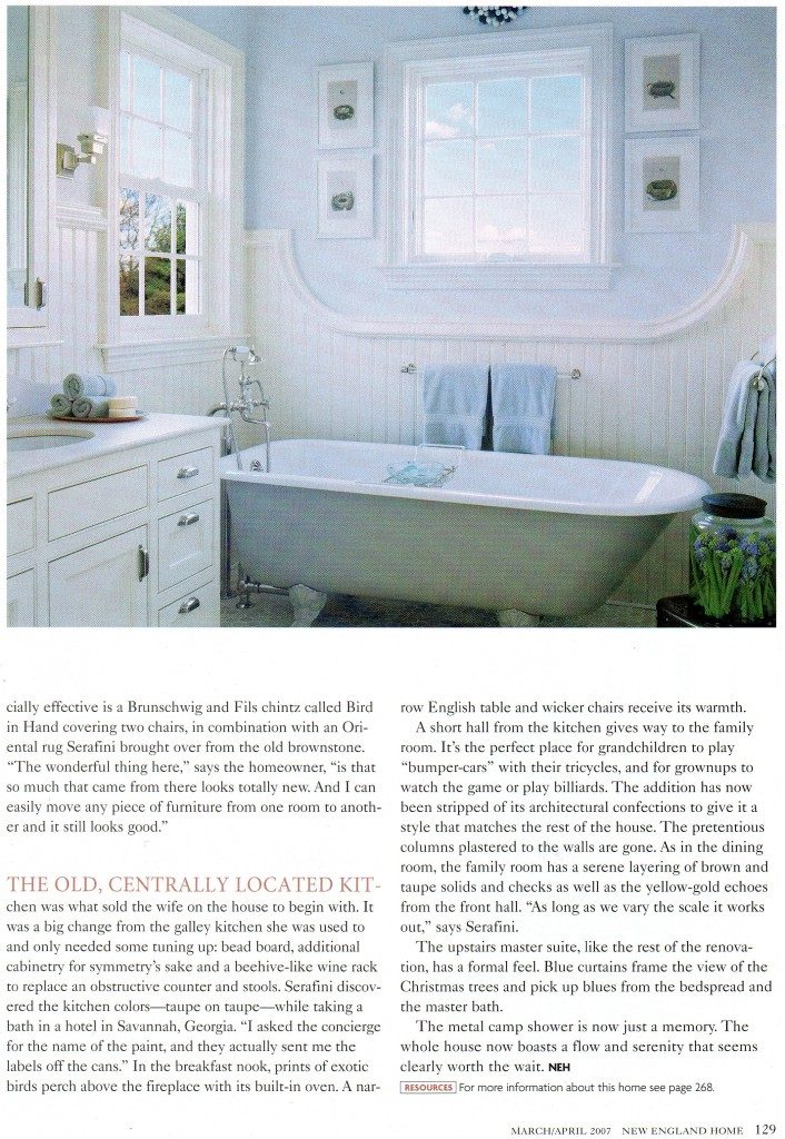 "2007 ""New England Home"" final page of article"